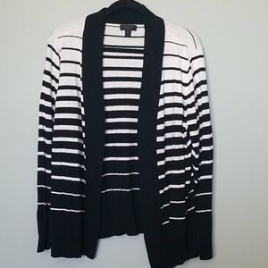 Worthington striped open front cardigan 1X